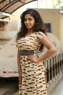 Telugu Actress Karunya Chowdary Stills in Short Dress at ATM Not Working Press Meet  0020.jpg