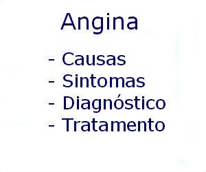 Angina causas sintomas diagnóstico tratamento prevenção
