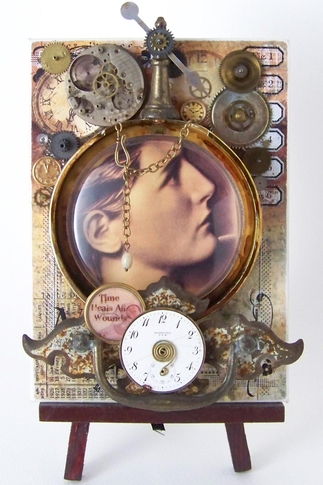 art beckons assemblage art time heals all wounds