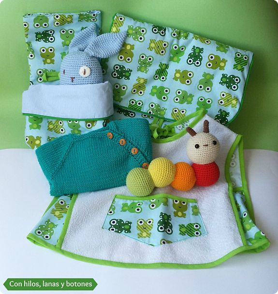 Con hilos, lanas y botones: la caja verde de Teo
