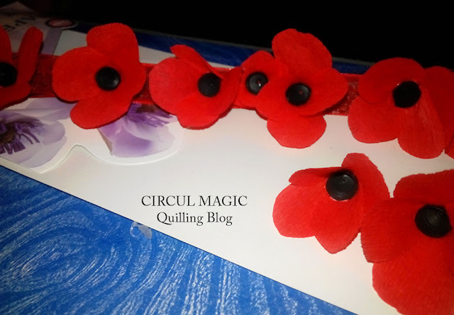Coronita cu maci flori din hartie Circul Magic