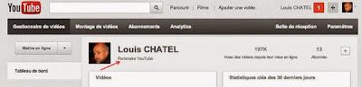 Louis CHATEL partenaire Youtube