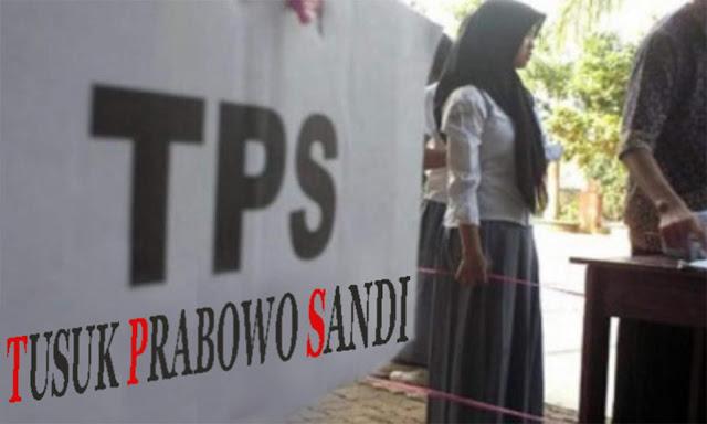 Sandiaga Bilang: Sudah Diatur, TPS Singkatannya 'Tusuk Prabowo-Sandi'