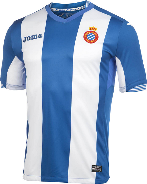 A unique neckline with a stripes details around the rear is used for the  Espanyol 15-16 Shirt 842f971a2
