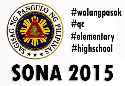 SONA 2015: No Classes Elementary to High School on Monday July 27, 2015