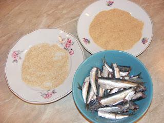 retete si preparate din peste sardina cu susan si pesmet,
