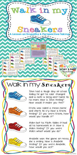 https://www.teacherspayteachers.com/Product/Walk-in-my-sneakers-empathy-activity-Social-emotional-learning-social-skills-2708037
