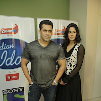 Salman Khan and Katrina Kaif Promoting Ek Tha Tiger on India Idol