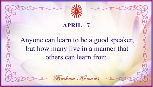Thought For The Day April 7