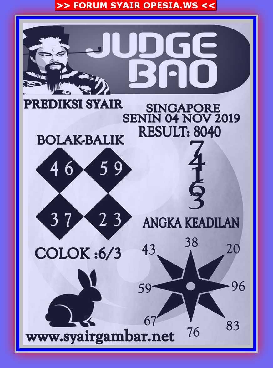 Kode syair Singapore Senin 4 November 2019 41