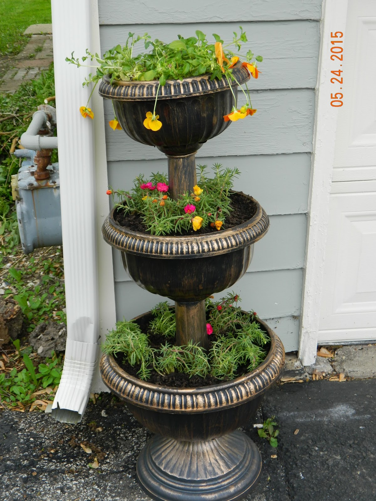 Three Tier Flower Pots Mr B 39s Garden June 2015