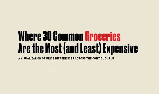 Where 30 Common Groceries Are the Most (and Least) Expensive