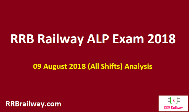 Railway RRB ALP  09 August 2018 Analysis and Question Asked in Exam Download (All Shifts)