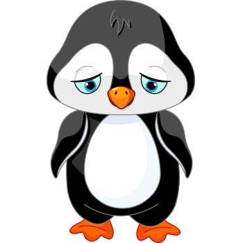 Sad penguin emoji