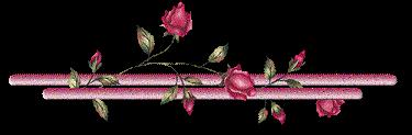 Разделители для текста с розами - много