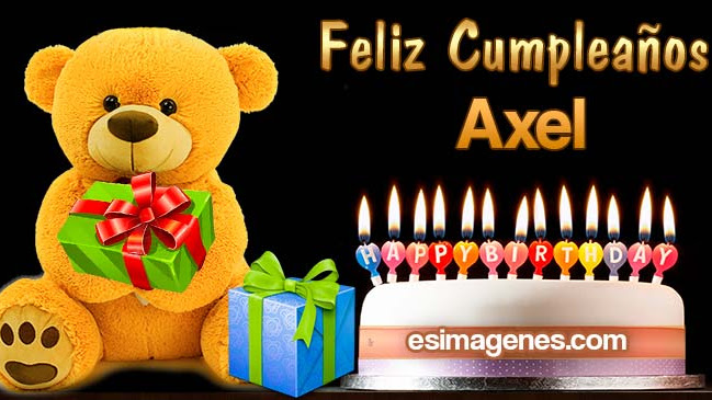 Feliz Cumpleaños Axel