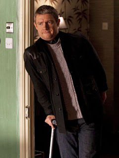 Martin Freeman as John Watson in BBC Sherlock A Study in Pink