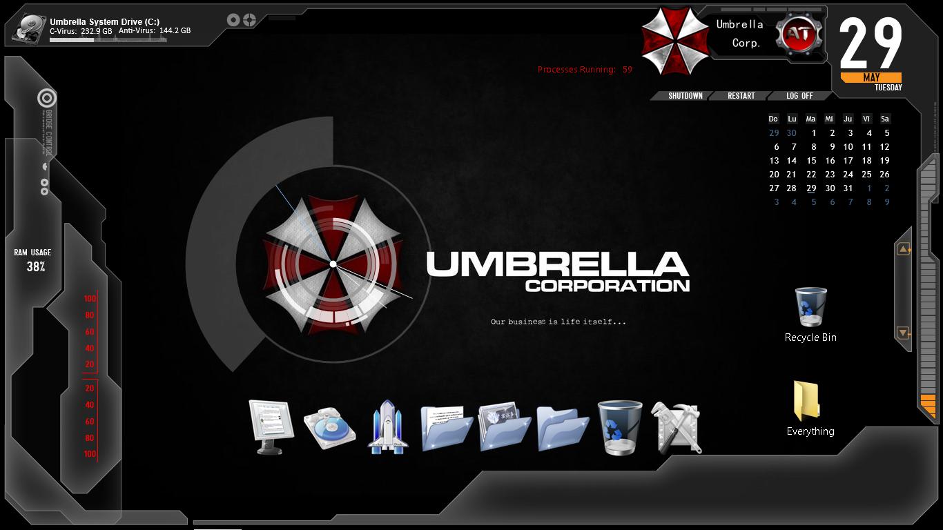 Get Your Umbrella Corporation Theme For Windows Xp Vista 7 8 8 1