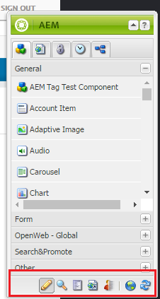 AEM: design and preview mode toolbar not visible