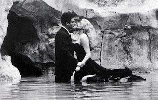 Mastroianni's famous Trevi Fountain scene with Anita Ekberg in Federico Fellini's La dolce vita