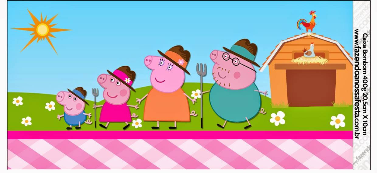 Peppa Pig At The Farm Free Printable Candy Bar Labels