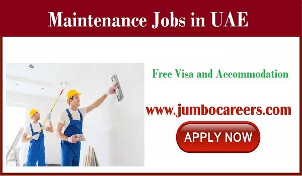Available job vacancies in UAE, Construction company jobs in Dubai,
