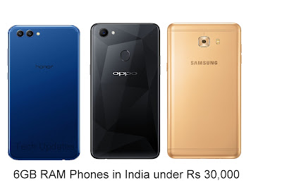 6GB RAM Smartphone in India under Rs 30,000