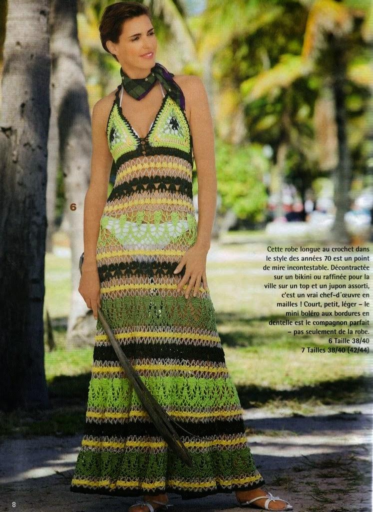 Solero artesanal tejido al crochet con patrones