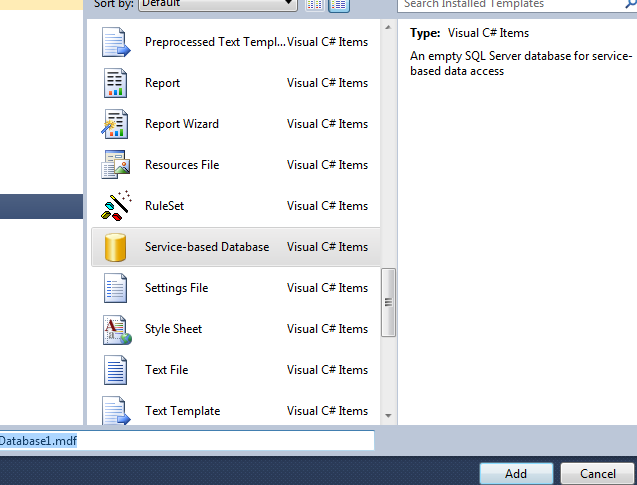 How to create setup file( exe) with Database in Visual studio 2010