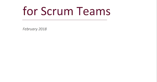 The Kanban Guide for Scrum Teams 出爐