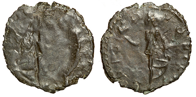 Billon Antoninianus of Tetricus I or Tetricus II, 271-274 CE.