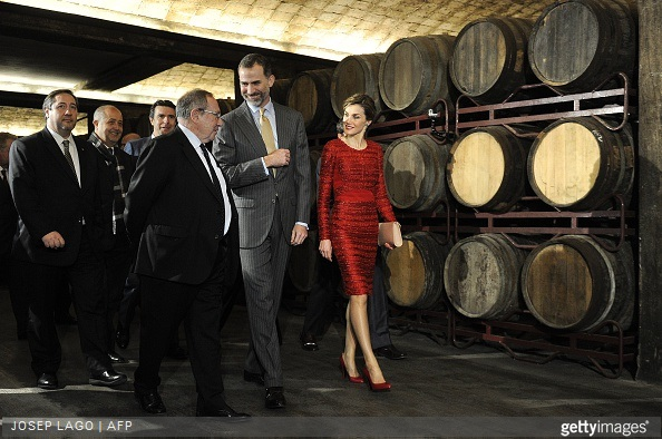 King Felipe of Sapain and Queen Letizia of Spain visits Freixenet Winery