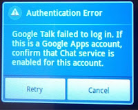 menghapus akun google mail google talk Authentication
