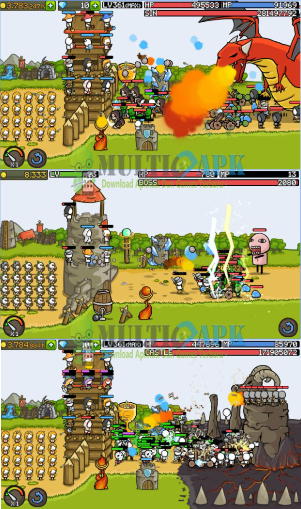 Grow Castle Apk Mod 1.17.5 Unlimited Crystals