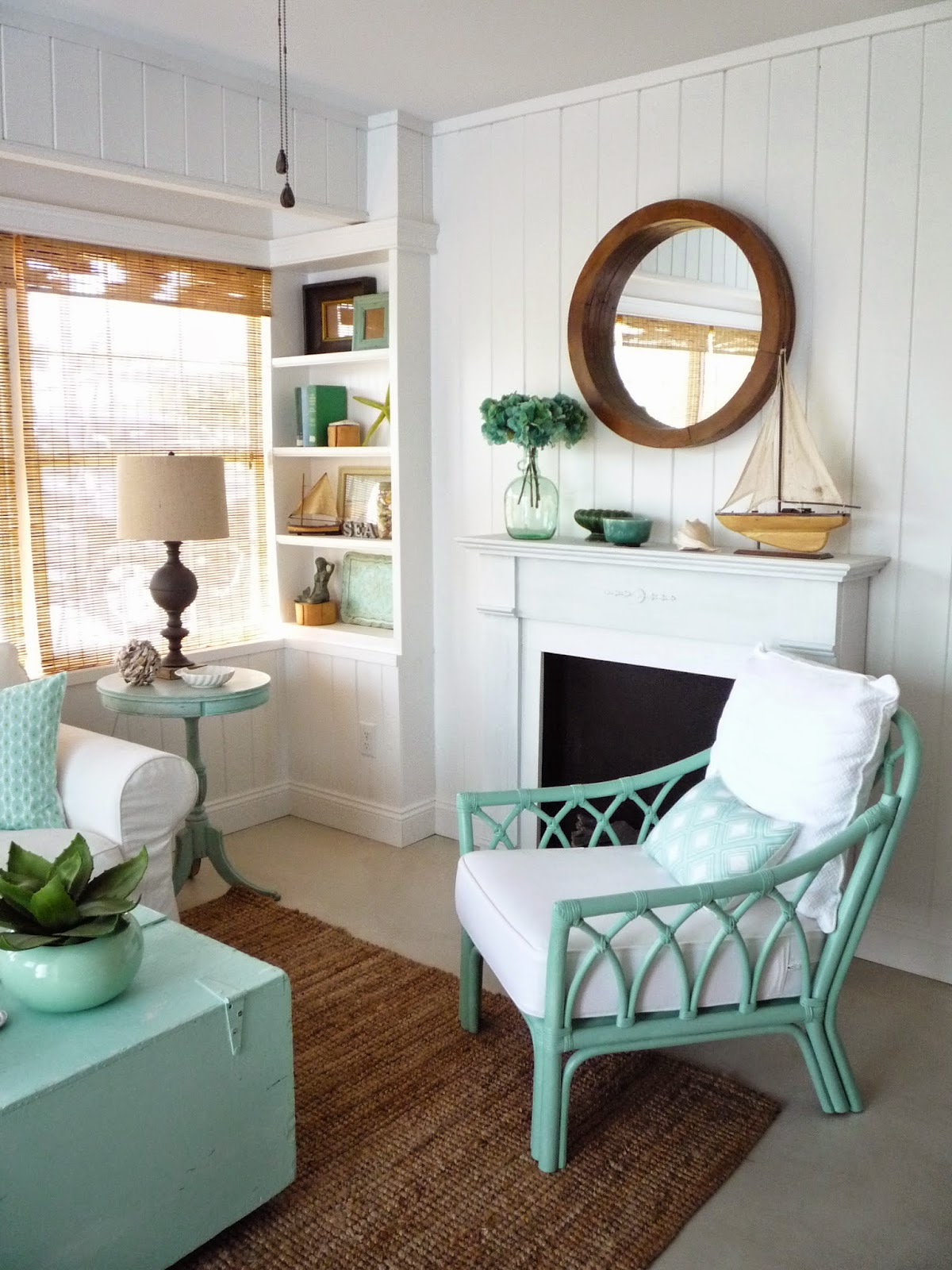 Furniture Placement For Long Narrow Living Room Curtains Photos Flea Market Trixie: Beach Cottage Sitting - Before ...