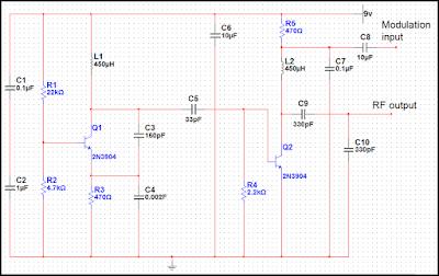 Low Power AM Transmitter Circuit Diagram