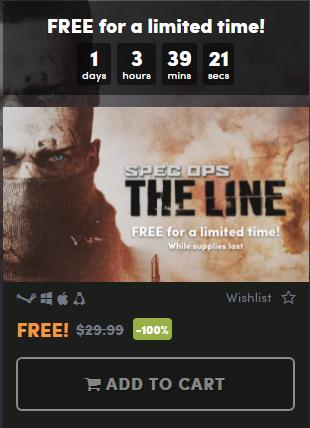 раздача игры Spec Ops: The Line