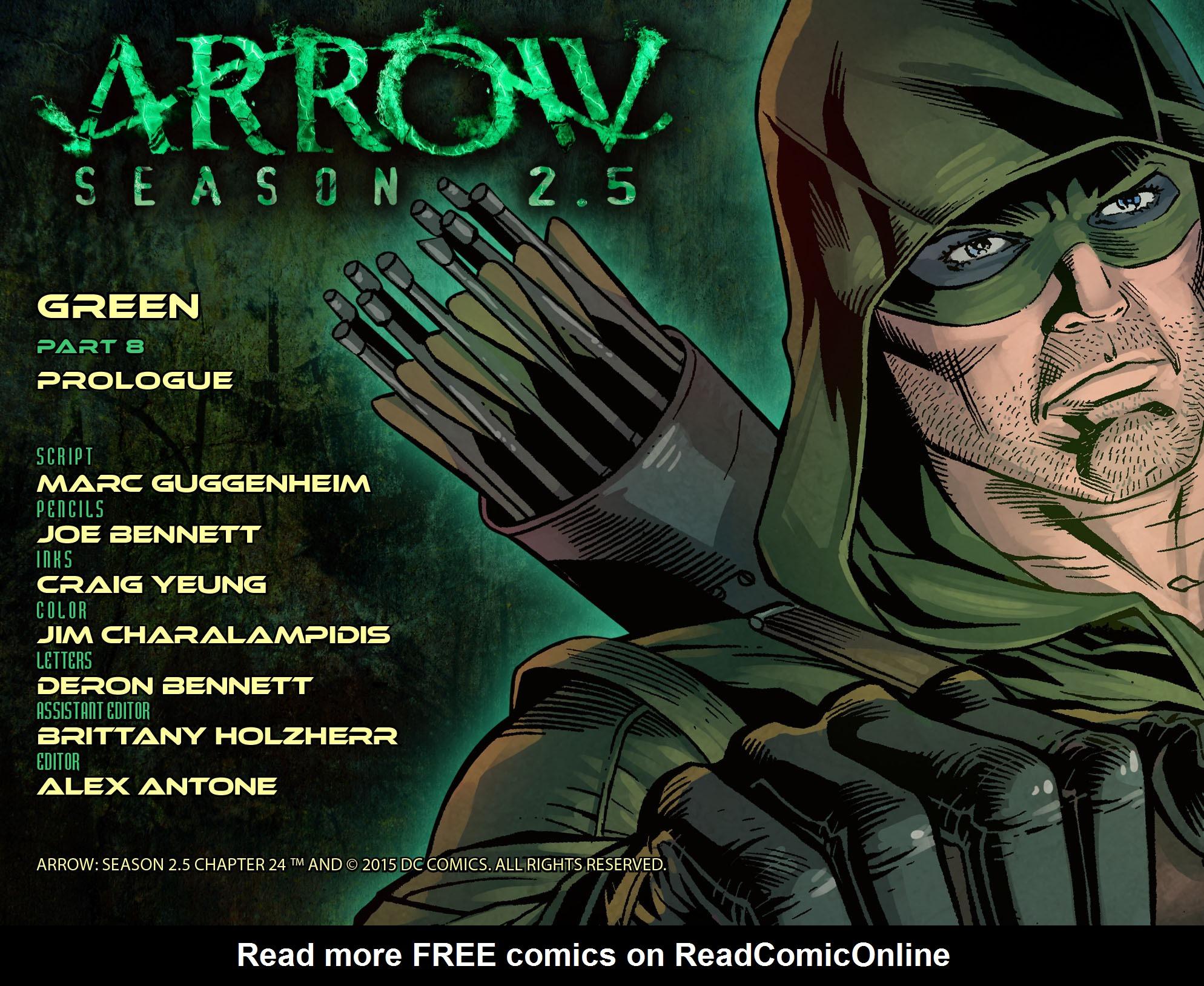 Read online Arrow: Season 2.5 [I] comic -  Issue #24 - 2