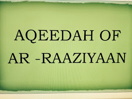 THE 'AQEEDAH OF AR-RAAZIYYAAN