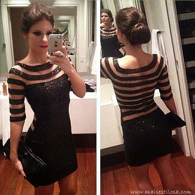 Vestido preto curto lindo