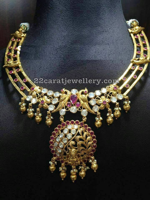 Spinal Rubies Antique Necklace