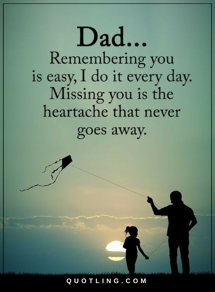 Dad Remembering You Is Easy I Do It Every Day Missing You Is The Best Father Quotes