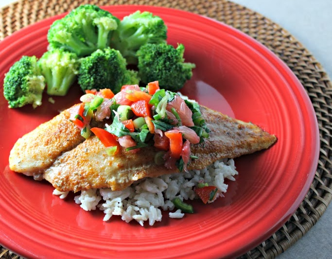 Renee's Kitchen Adventures:  Sweet and Spicy Swai Fillets with Citrus Salsa Delicious mild white fish that are easy to prepare and cook.