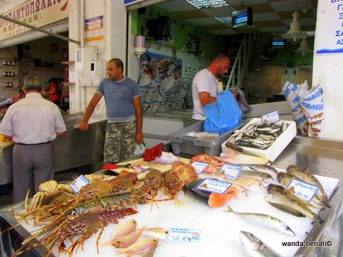 Mercato all'aperto di Ermoupolis