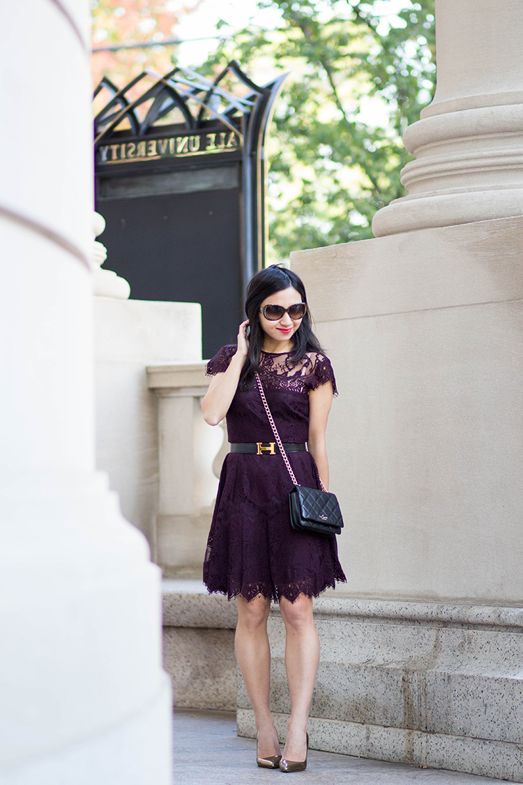 5ebd2562a6b BB Dakota Rhianna Illusion Yoke Lace Fit   Flare Dress - Elle Blogs