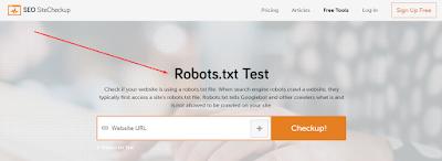 robots.txt fájl ellenőrzése