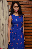 Pallavi Dora Actress in Sleeveless Blue Short dress at Prema Entha Madhuram Priyuraalu Antha Katinam teaser launch 018.jpg
