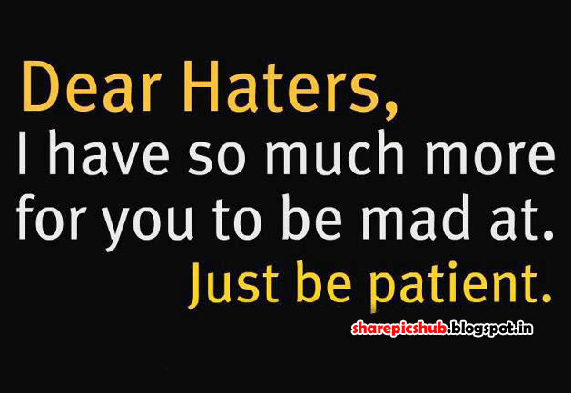 To Haters Attitude Quotes And Sayings. QuotesGram