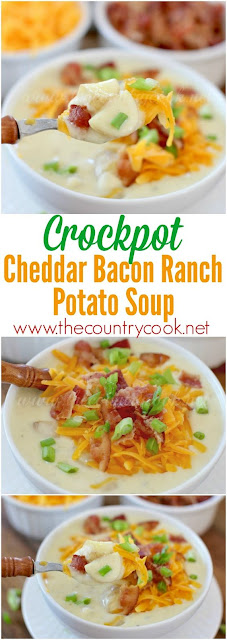 Crockpot Cheddar Bacon Ranch Potato Soup