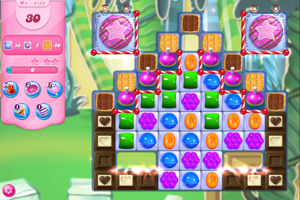 Candy Crush Saga level 4129